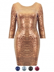 Sequin Long Sleeve Dress on Sequin Long Sleeve Dress 242 Jpg